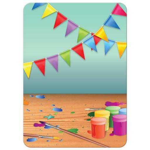 Birthday Party Invitation - Pottery Painting