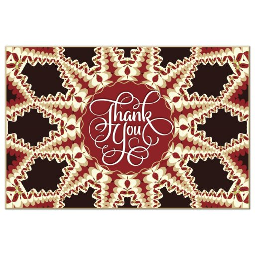 red flame thank you mandala postcard