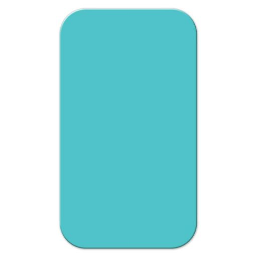 Teal Big Heart Balloon Mommy Calling Cards front