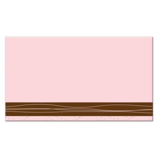Pink & Brown Floral Trendy Mommy Calling Cards back