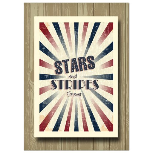 Retro Inspired Stars And Stripes Special Event Invitation