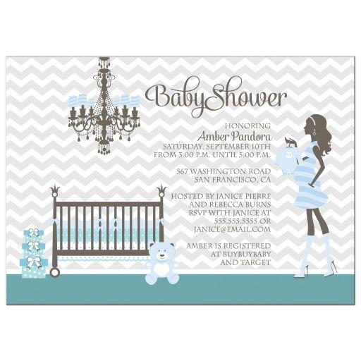 Boy Nursery Baby Shower Invites