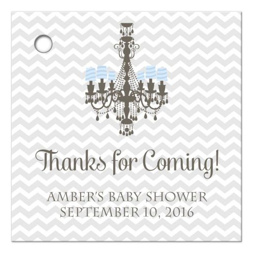 Chandelier Baby Shower Thank you Favor Tags