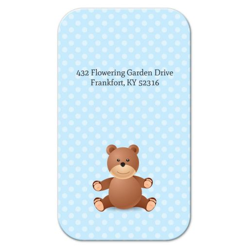 Business Card - Blue Polka Dot Bear Mommy Mummy Calling Card