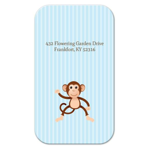 Business Card - Blue Stripe Monkey Mommy Mummy Calling Card