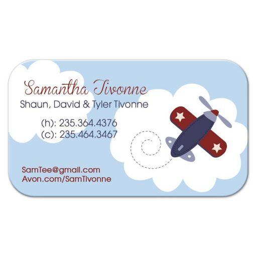 Airplane Aviator Contact Card