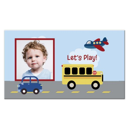Transportation Play Date Contact Card