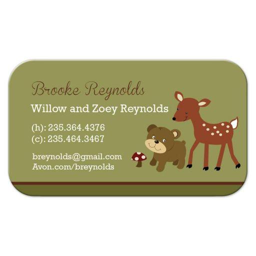 Woodland Deer and Bear Contact Card