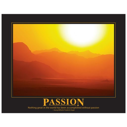 Wadi Rum desert sunset scene passion motivational or inspirational art print