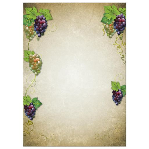 Bridal Wedding Shower invitation - Vineyard Wine and Grapes
