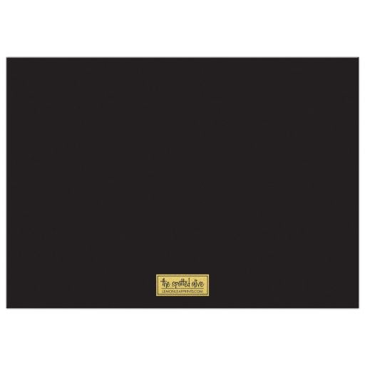 Black & Gold Geometric Corporate Holiday Party Invitations back