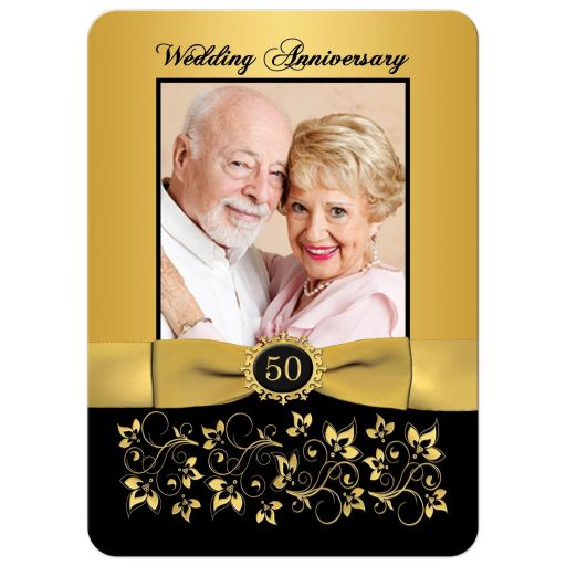 Great 50th Wedding Anniversary Invitation with Photo