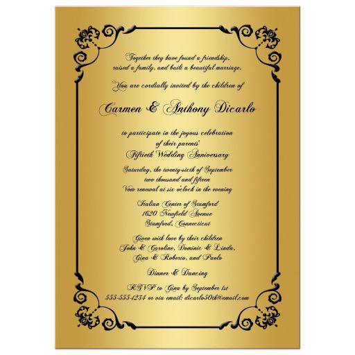 Great 50th Wedding Anniversary Invitation with Photo