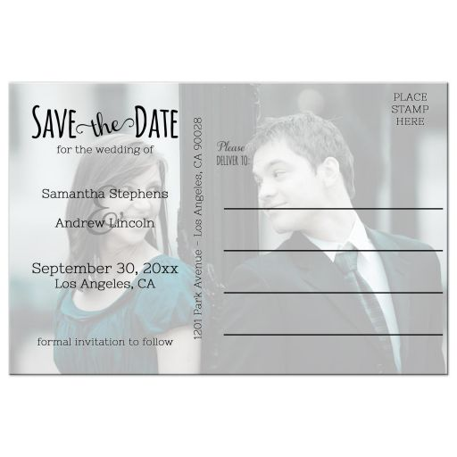 photo save the date hearts back