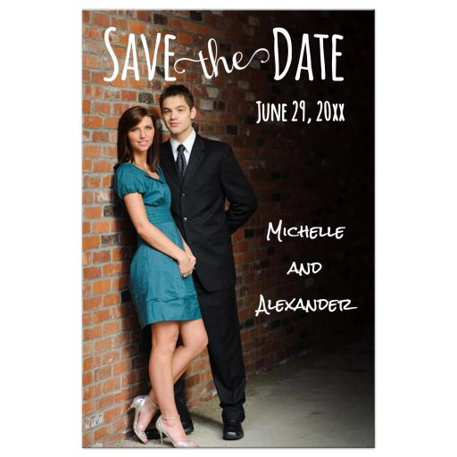 photo save the date wedding front