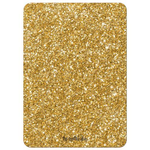 Gold Glitter Look 50th Wedding Anniversary Invitations back