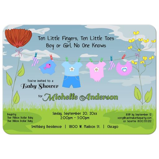 new baby shower invitation
