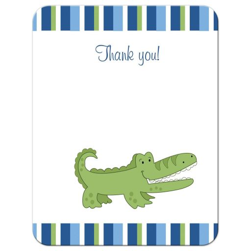 Alligator Flat Thank you card