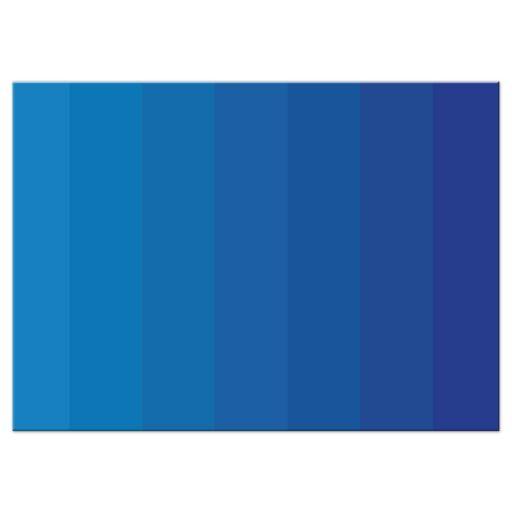Bar Bat Mitzvah Reply RSVP Card - Blue Tonal Ombre Columns