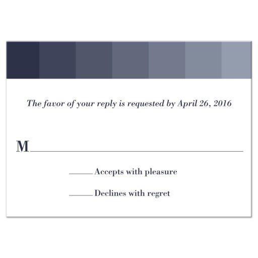 Bar Mitzvah Reply RSVP Card - Grey Tonal Ombre Columns