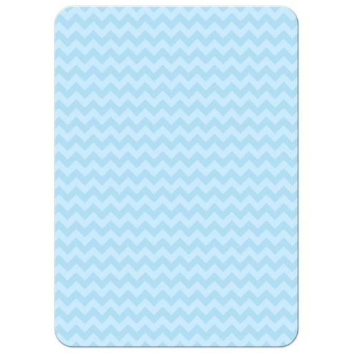 Personalized Hanukkah Photo Card - Blue Chevron Icons