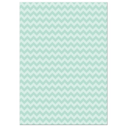 Personalized Hanukkah Photo Card - Mint Green Chevron Icons