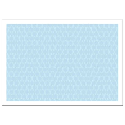 Personalized Hanukkah Photo Card - Light Blue Pattern Menorah