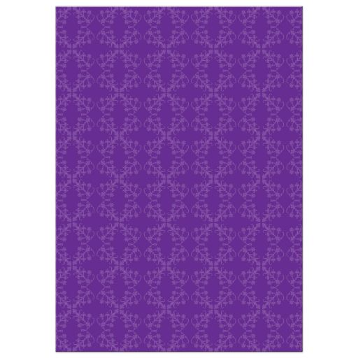 First Holy Communion Invitation - Purple Damask Strip