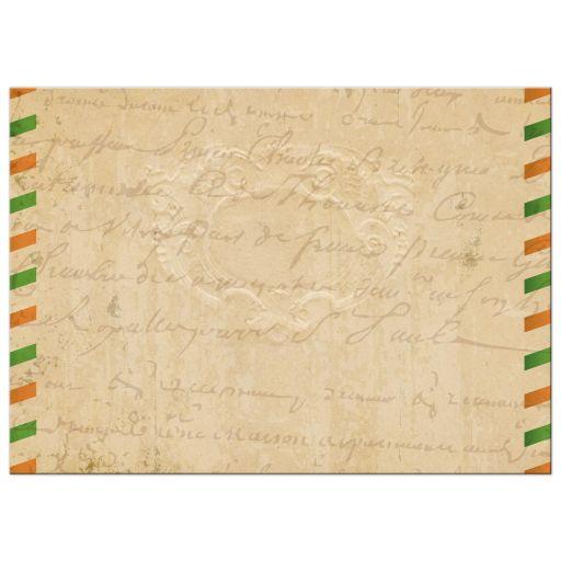 Bridal Wedding Shower invitation - Vintage Irish Airmail