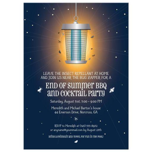 Party Invitation - Summer Nights BBQ Bug Zapper