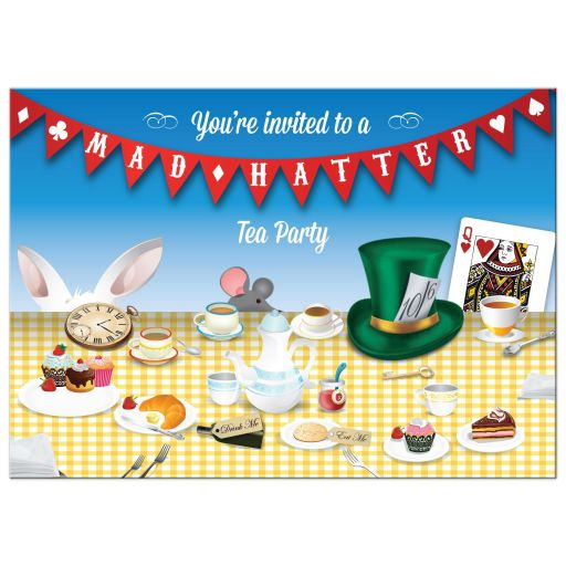 Party Invitation - Mad Hatter Tea Party