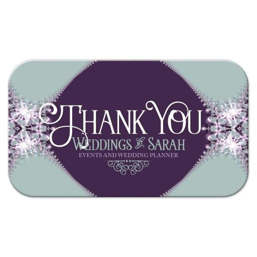Blueberry & Lace Thank You Business Cards