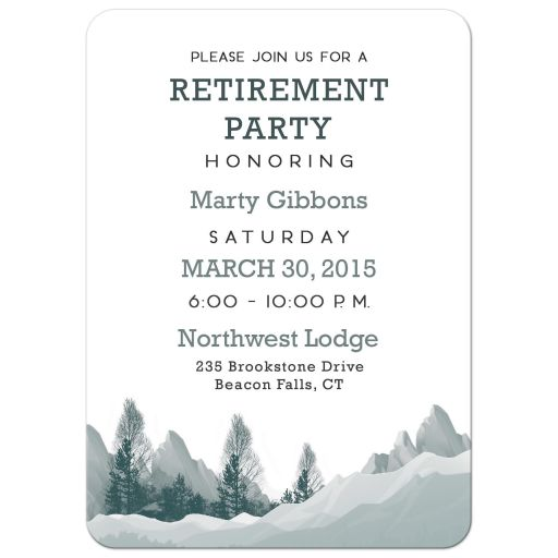 Mountain Woods Retirement Party Invitation