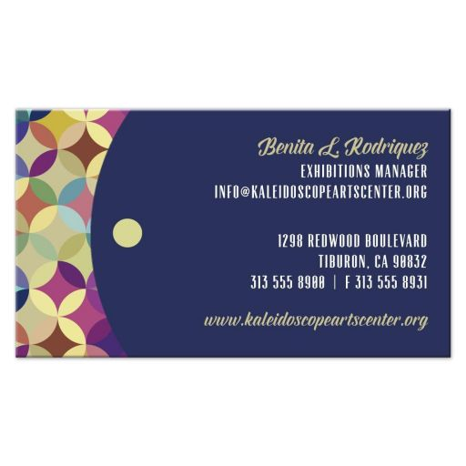Business Card - Kaleidoscope Repeated Circles