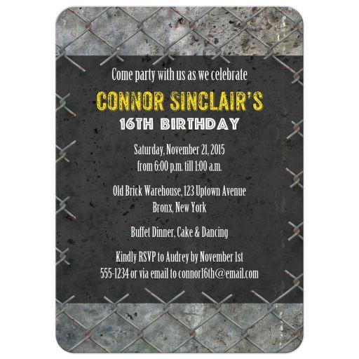 urban grunge dance party invitation