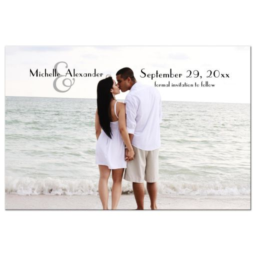 Elegant Personalized Save The Date Photo Post Card