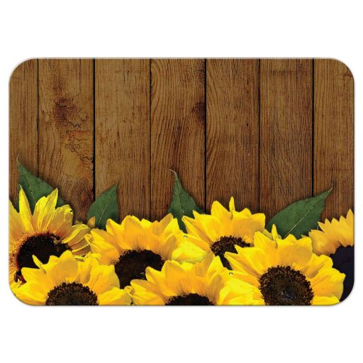 Wedding Reply RSVP Card - Rustic Watercolor Sunflowers and Lace
