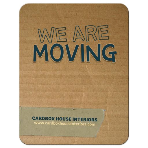 Cardbox Moving New Address Card