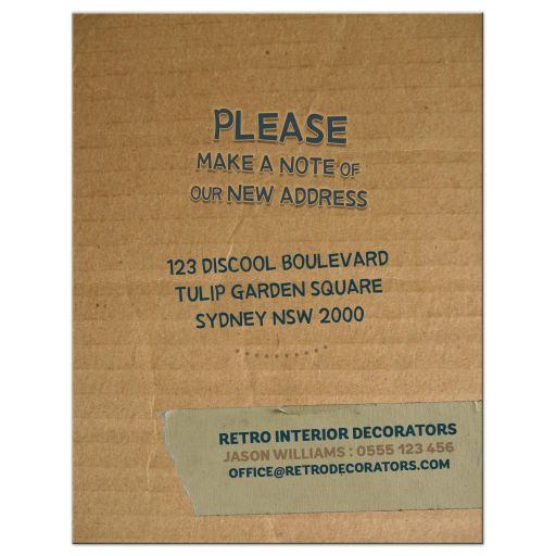 Cardbox Moving New Address Card