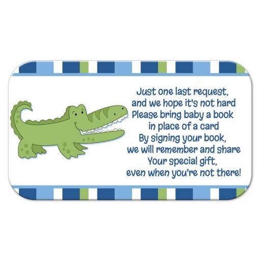 Alligator Bring a book instead of card enclosure card