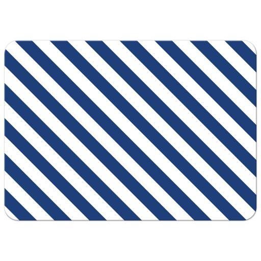 Baby Shower Invitation - Nautical Stripes Sandy Lighthouse