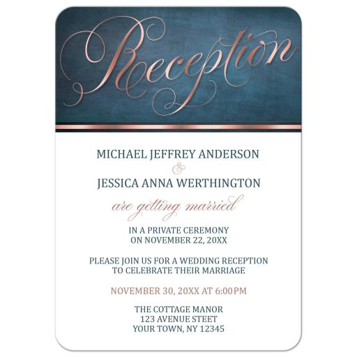 Christian Wedding Reception Ideas: Reception Only Invitations