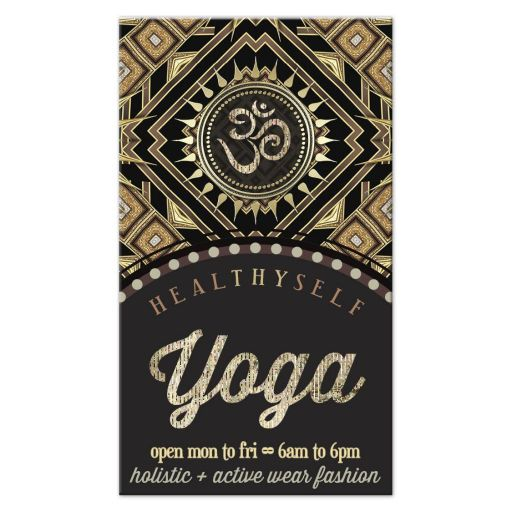 Gold Om Yoga New Age Business Card