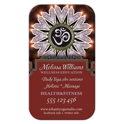 Lilac Sparkle OM Yoga Business Card