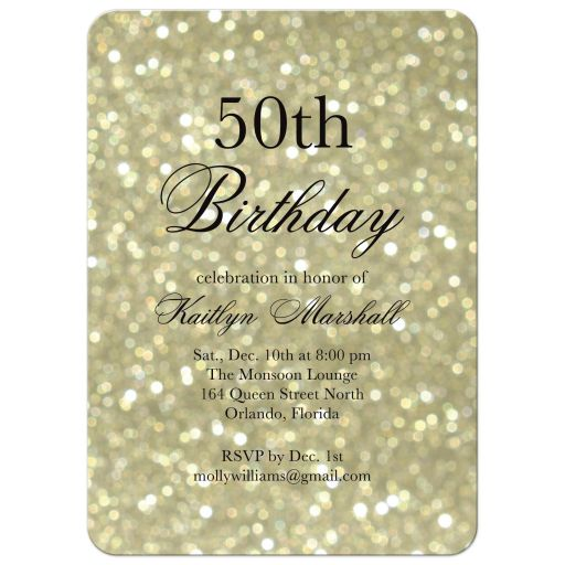 Gold Birthday Party Invitation
