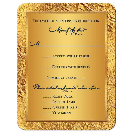 Affordable blue, green, and gold ethnic, Hindu, Indian, Muslim wedding rsvp cards