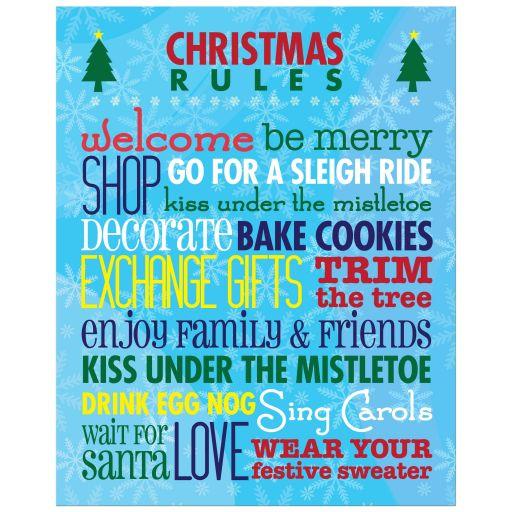 8x10 Art Print - Christmas Rules