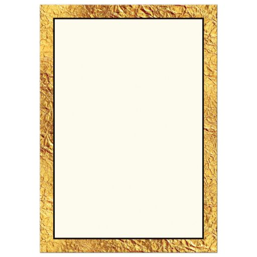 elegant retirement invitation with gold laurel wreath