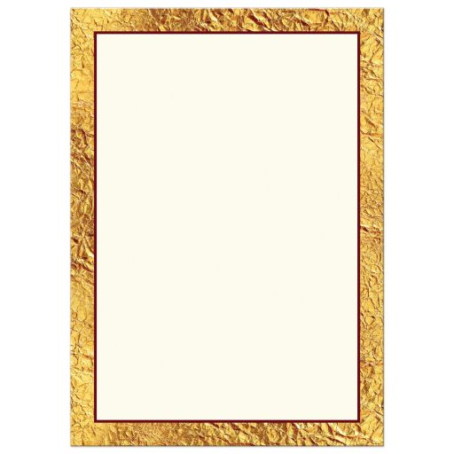 Elegant red, ivory, and gold faux foil retirement invitation