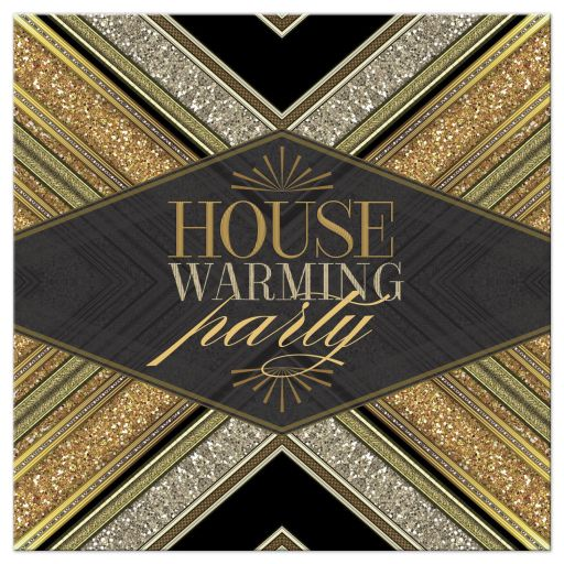 Art Deco Gold Glitter House Warming Party